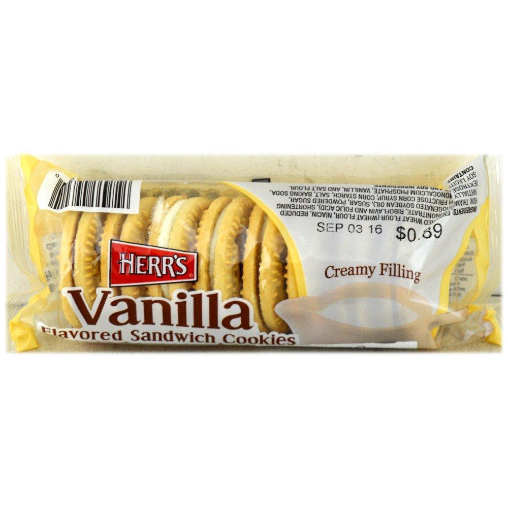 Herrs Vanilla Sandwich Cookies 99.2g