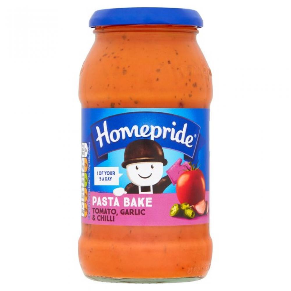 Homepride Tomato Garlic And Chilli Pasta Bake 485g