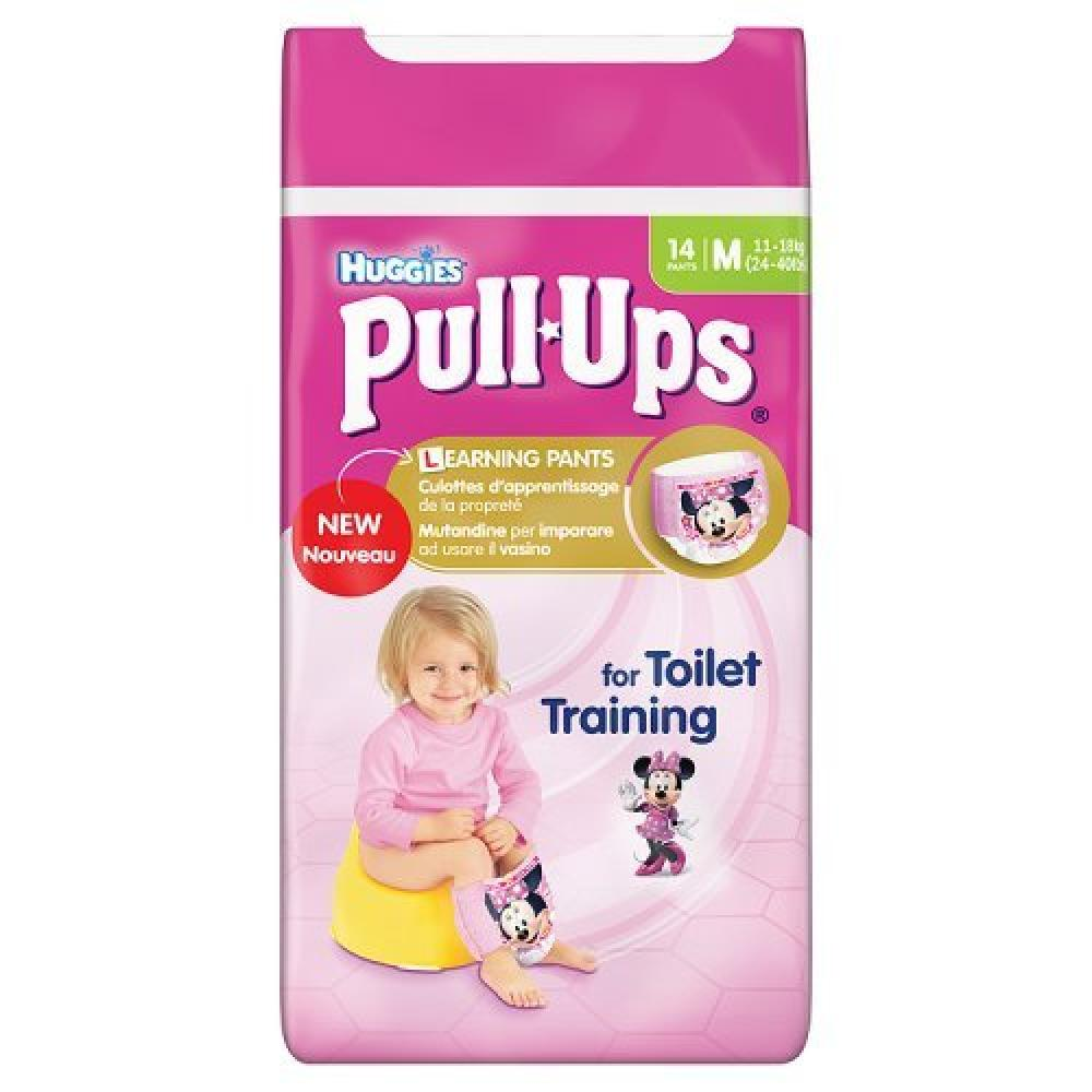 Huggies Girls Potty Training Pants Pull Ups 14 pants Medium