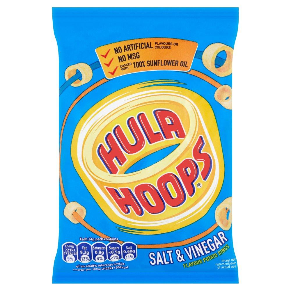 Hula Hoops Salt and Vinegar Flavour 34g