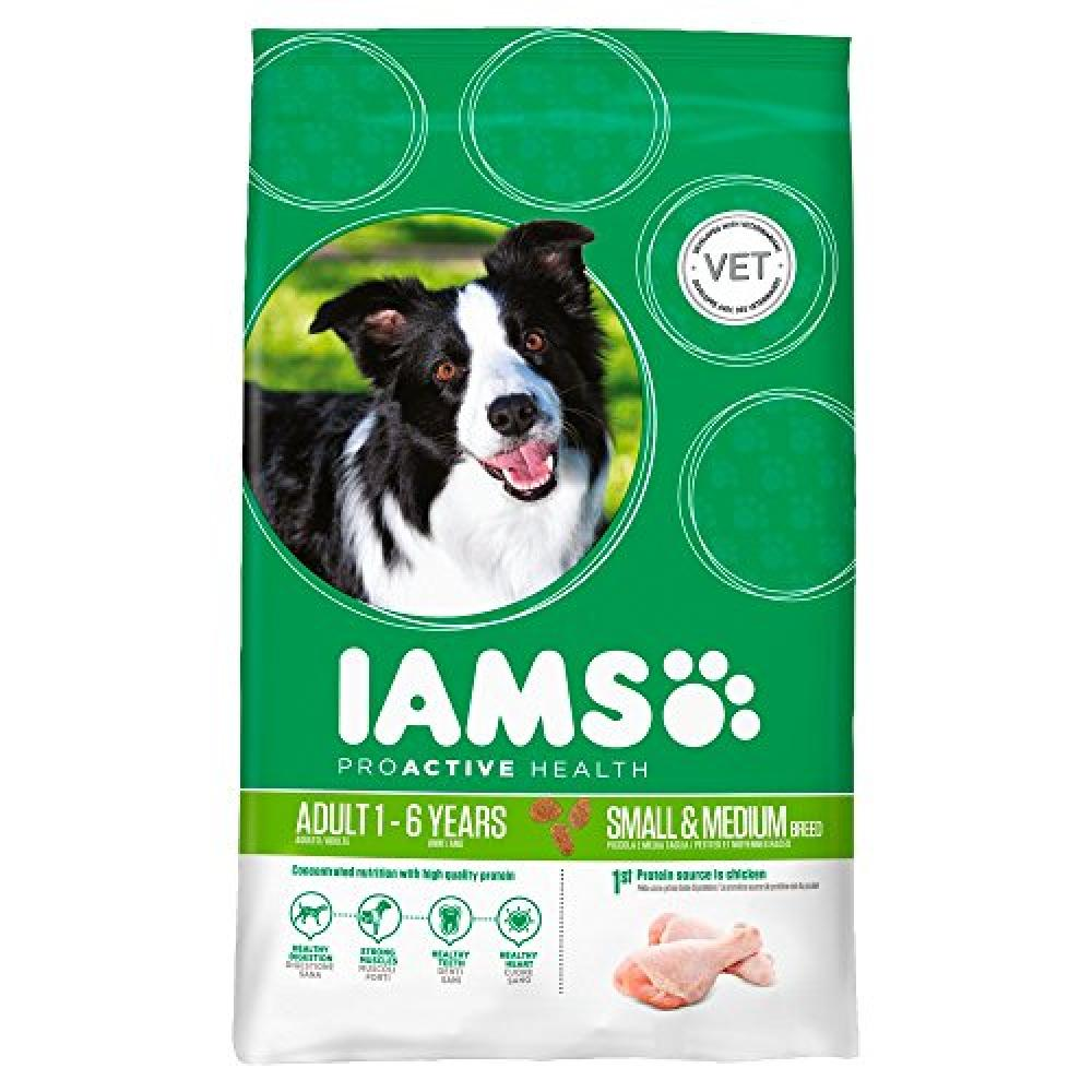 Iams Adult Dry Dog Food with Chicken for Small and Medium Breed 10kg