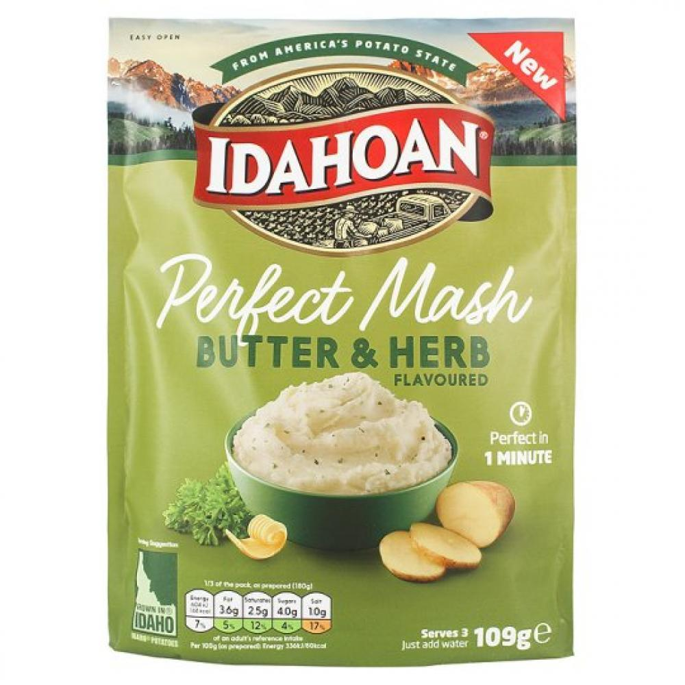Idahoan Butter and Herb Potato Mash 109g