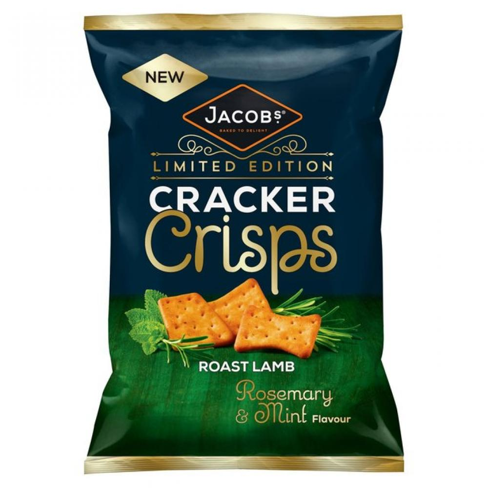 Jacobs Cracker Crisps Roast Lamb Rosemary and Mint Flavour 150g