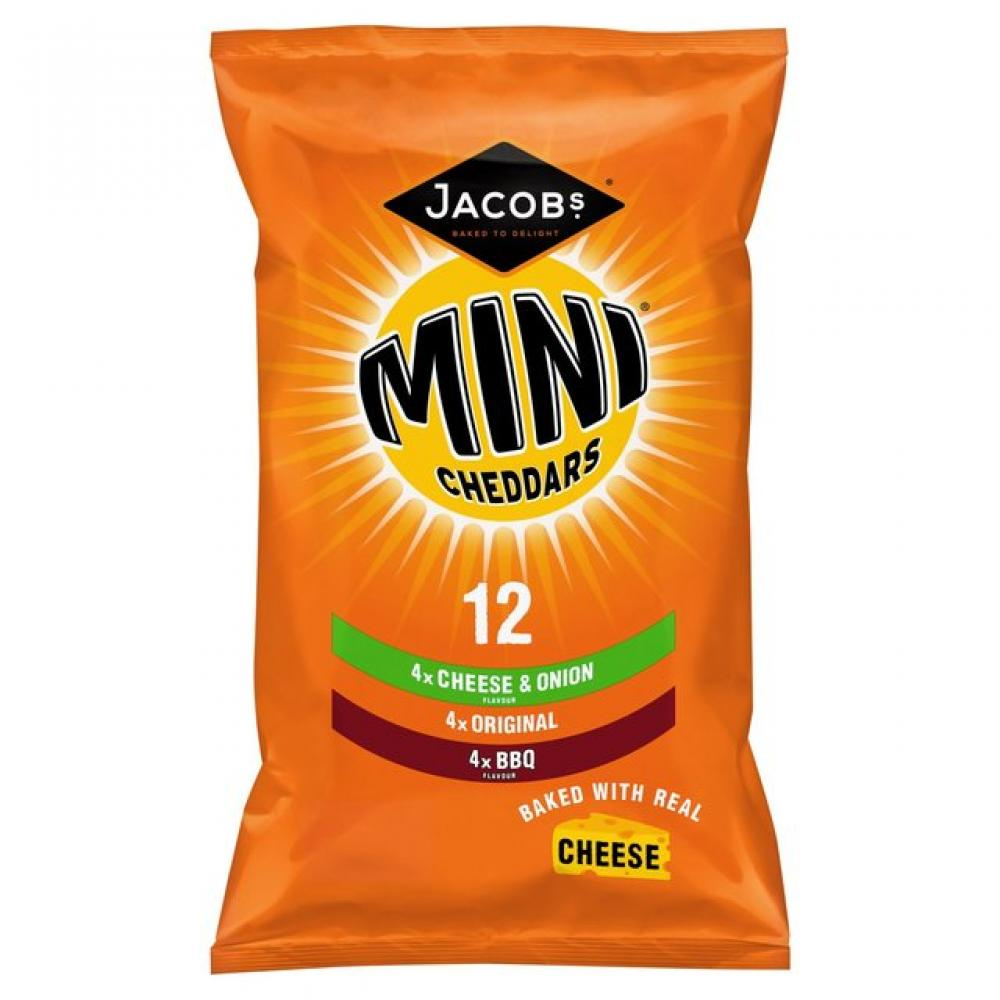 Jacobs Mini Cheddars Variety Pack 25g x 12