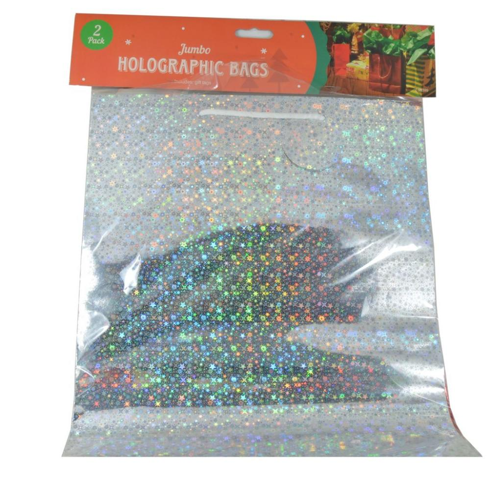 Christmas Jumbo Holographic Bags 2 Pack