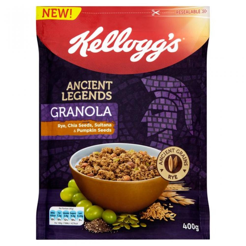 Kelloggs Ancient Legends Granola Rye Chia Seeds Sultana and Pumpkin Seeds 400g
