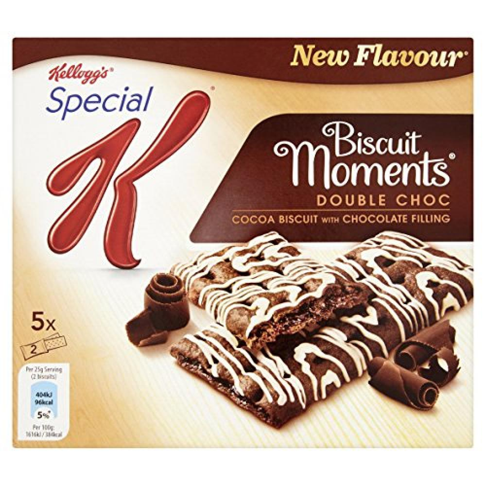 Kelloggs Biscuit Moments Double Choc - 5 Pack 125g