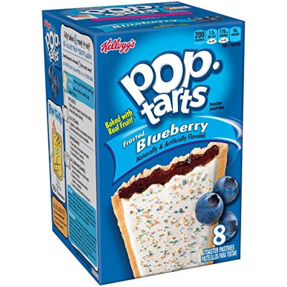 Kelloggs Pop-Tarts Frosted Blueberry 8 Toaster Pastries 416g
