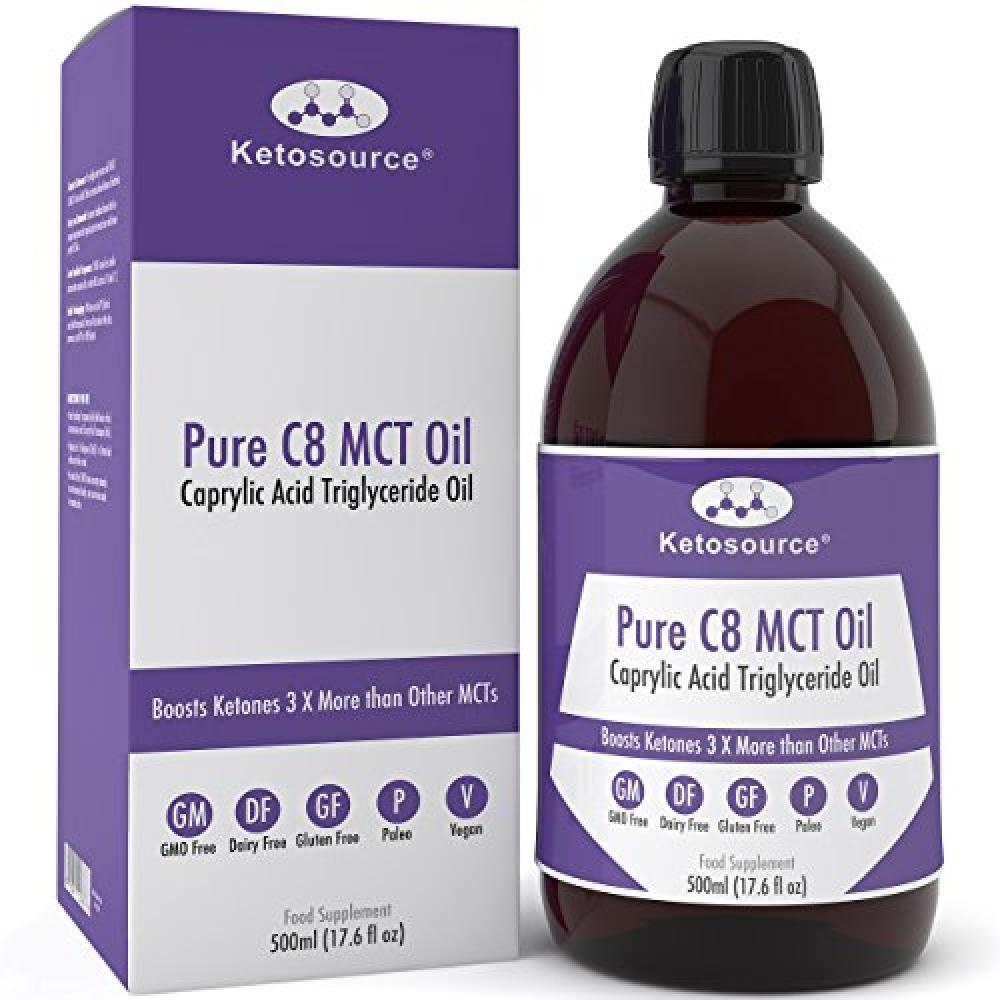 Ketosource Premium C8 MCT Oil | Boosts Ketones 3X More Than Other MCTs 500ml