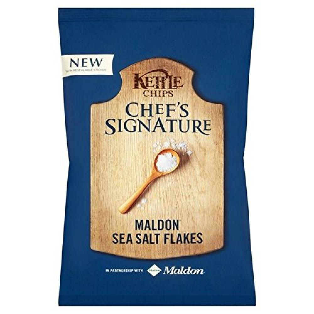 Kettle Chips Chefs Signature Maldon Sea Salt Flakes 150g
