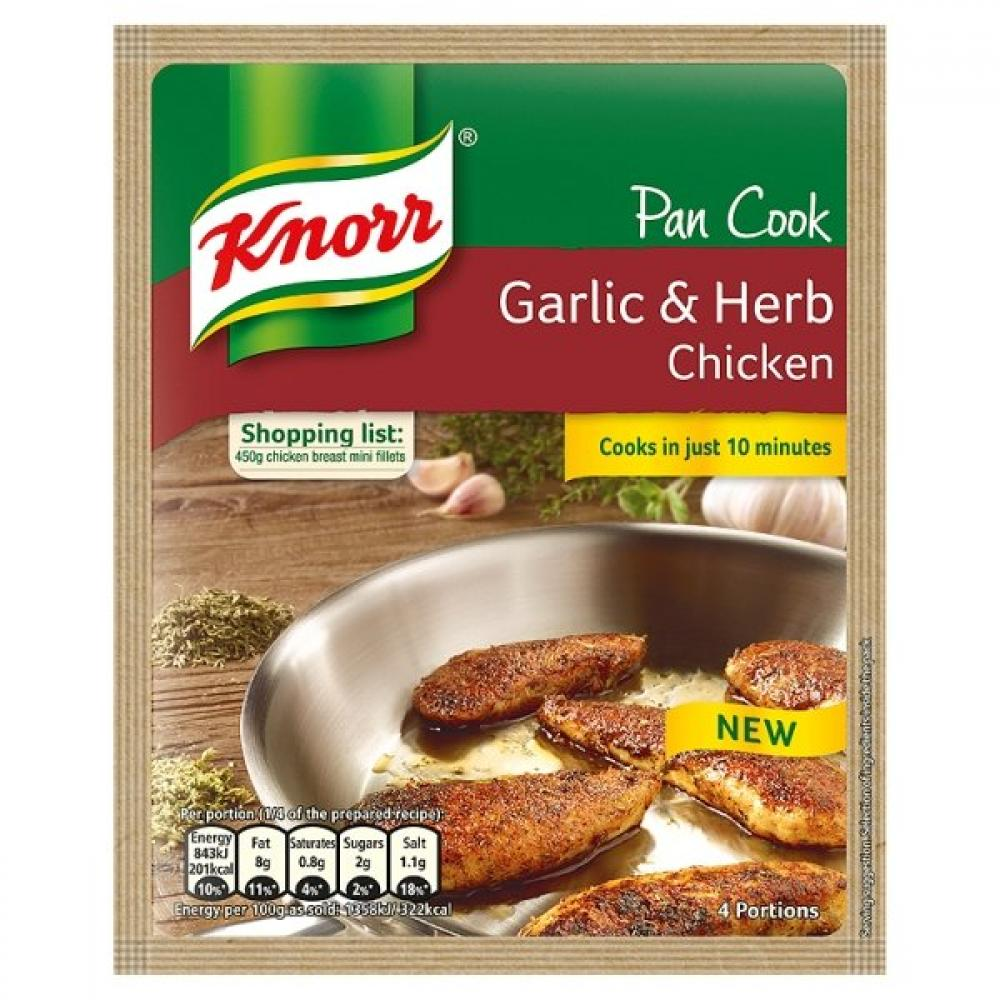 Knorr Garlic and Herb Chicken Pan Cook 32g