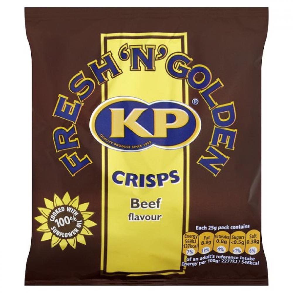 Kp Crisps Beef Flavour 25g