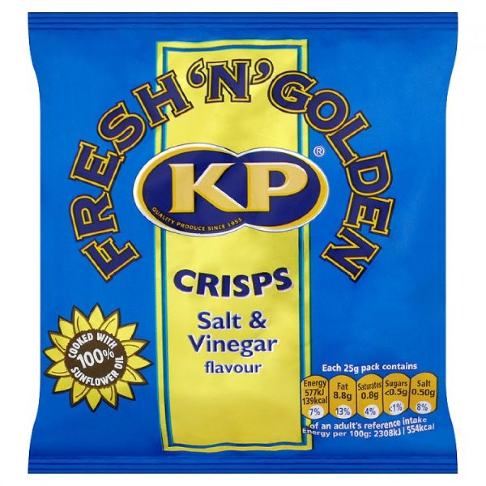 Kp Crisps Salt and Vinegar Flavour 25g