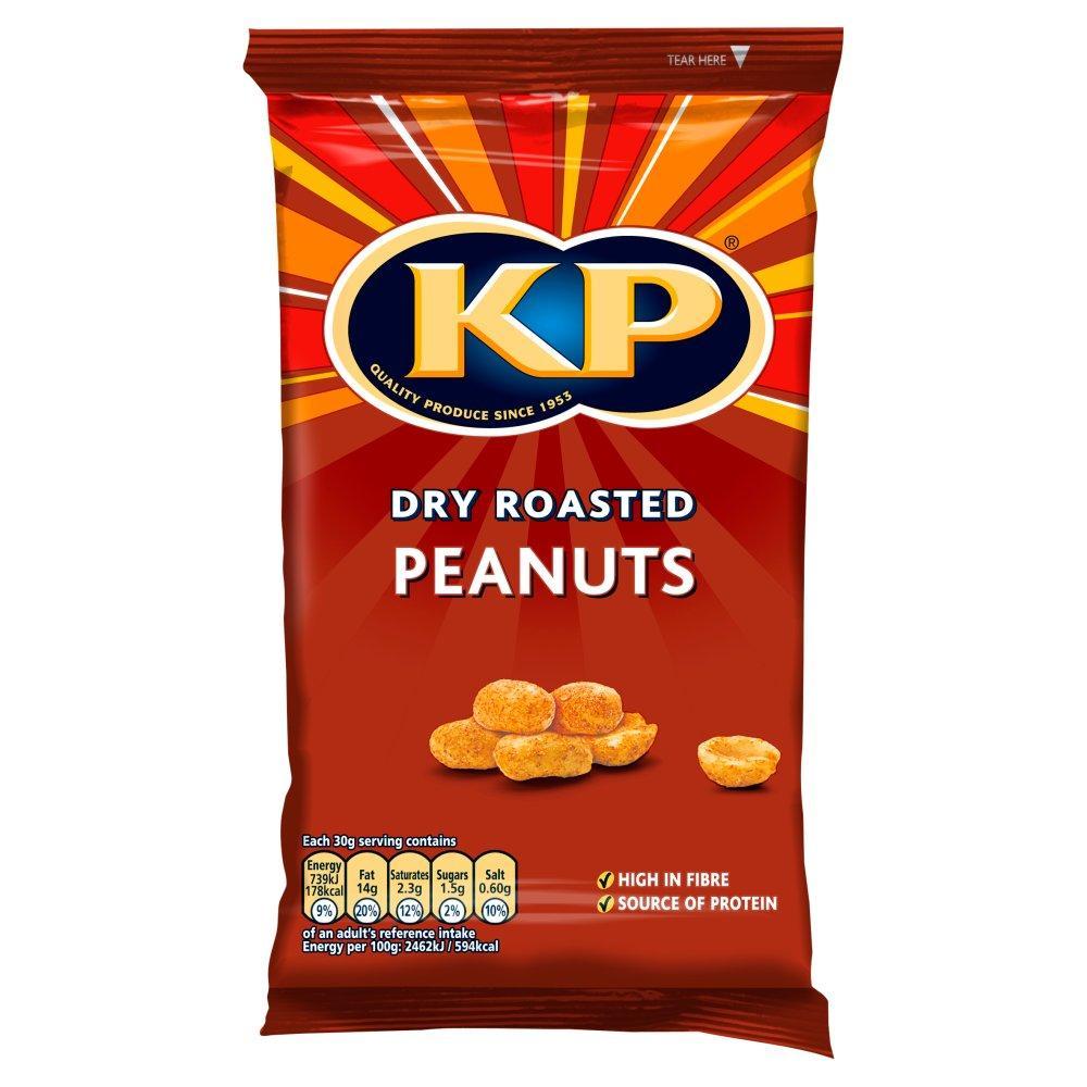 Kp Dry Roasted Peanuts 150g