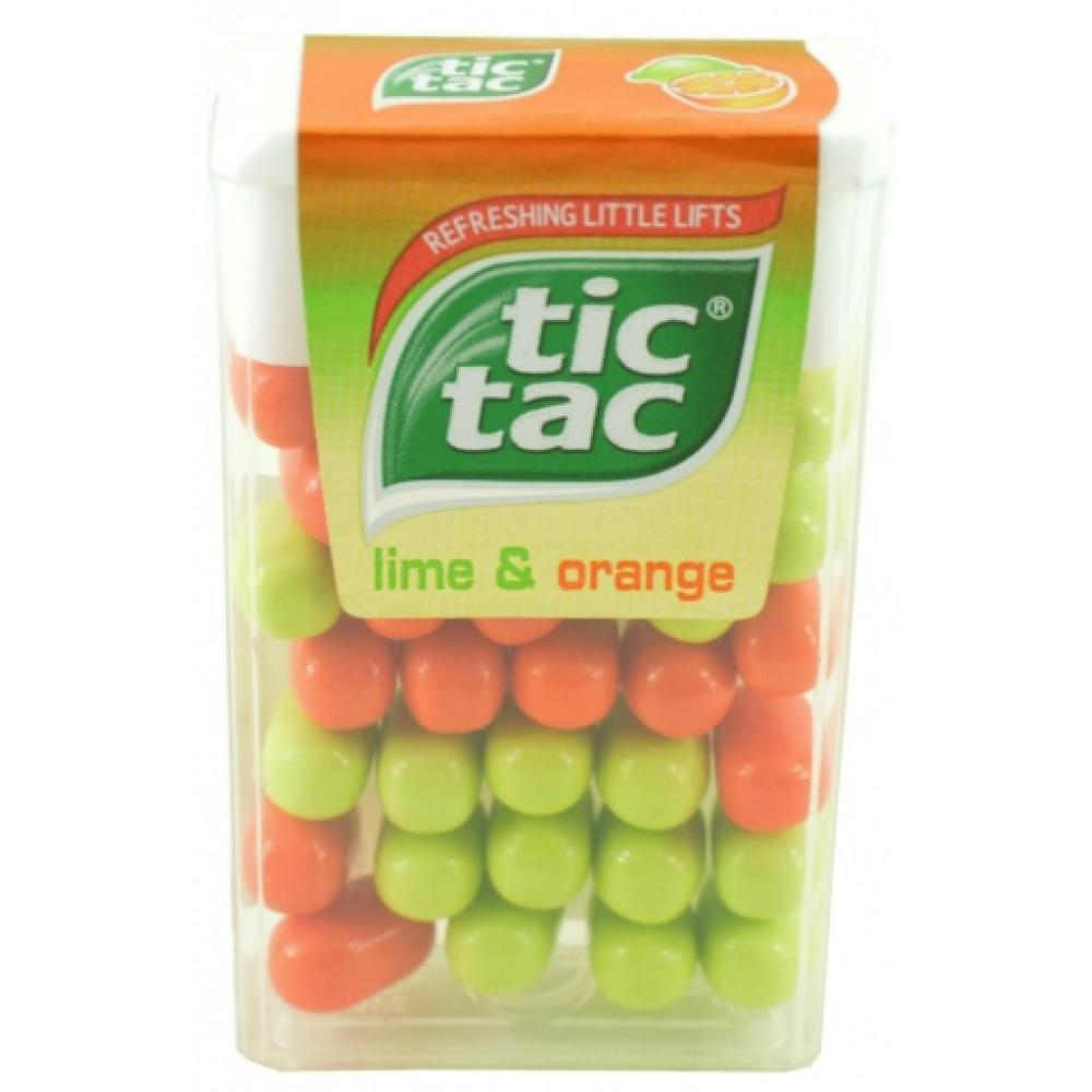 Tic Tac Lime and Orange 18g