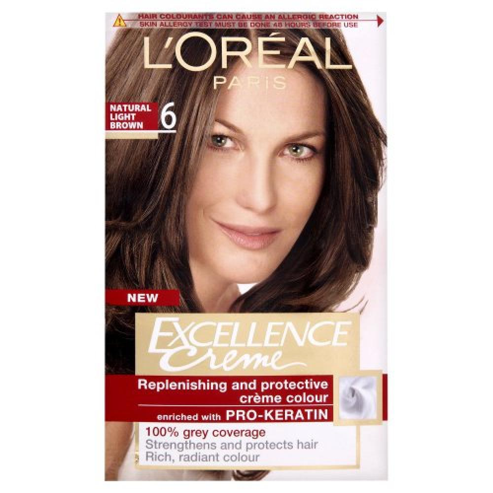 LOreal Excellence Permanent Hair Colour 6 Natural Light Brown