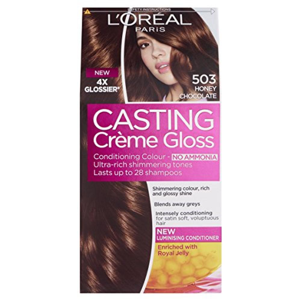 Loreal Paris Casting Creme Gloss 503 Honey Chocolate Brown Semi Permanent Hair Dye