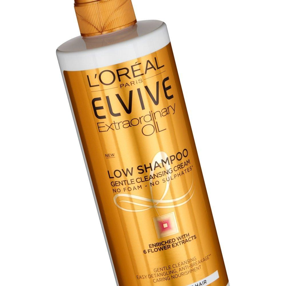 Loreal Paris Elvive Extraordinary Oil Low Shampoo Gentle Cleansing Cream 400ml