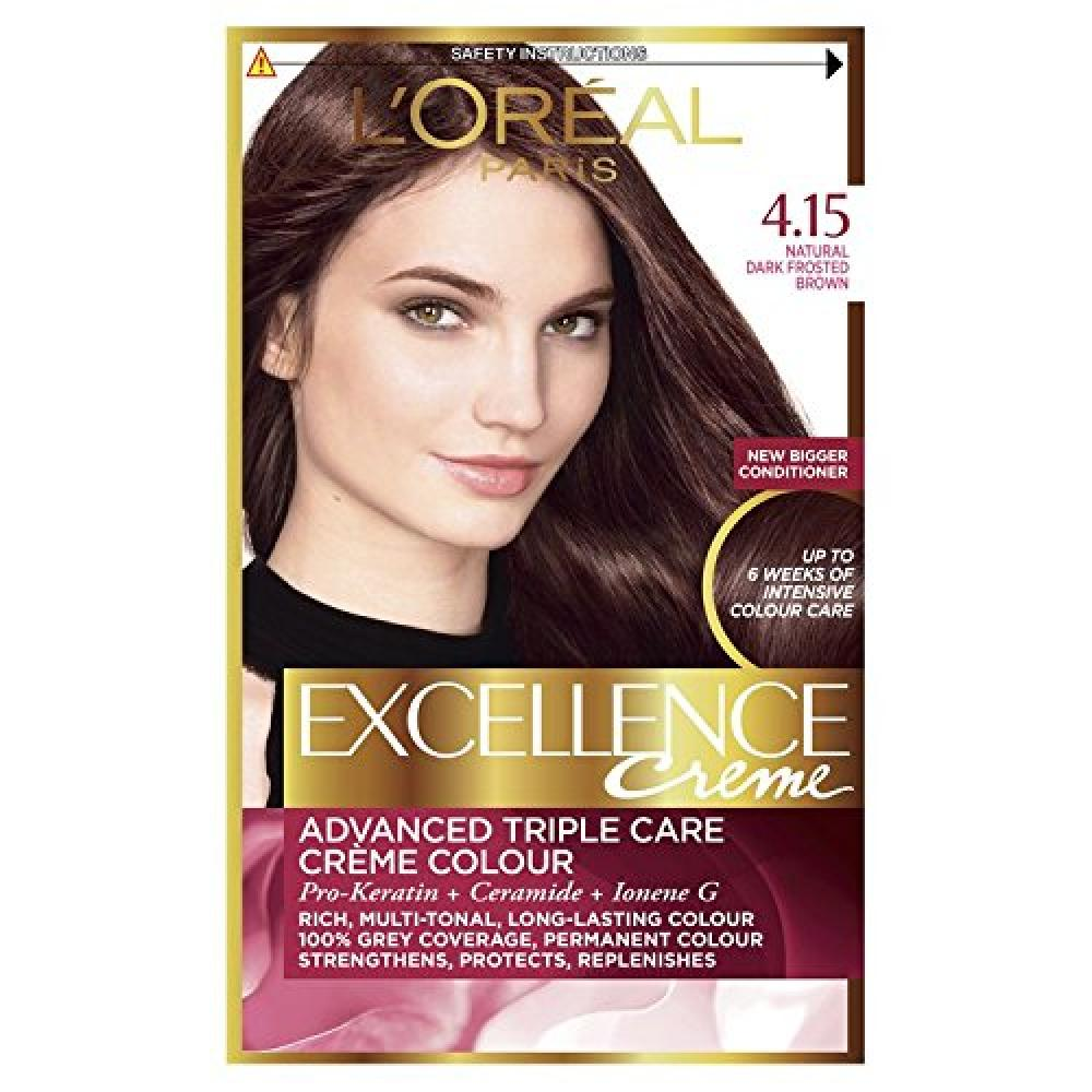 Loreal Paris Excellence Creme 4.15 Dark Frosted Brown Hair Dye