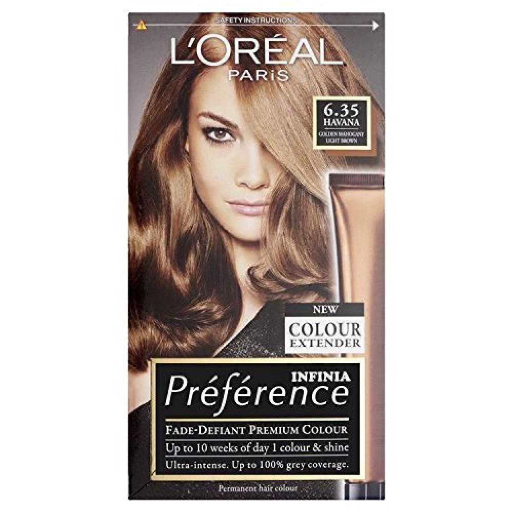 LOreal Preference Infinia 6.35 Havana Golden Mahogany Light Brown Hair Dye