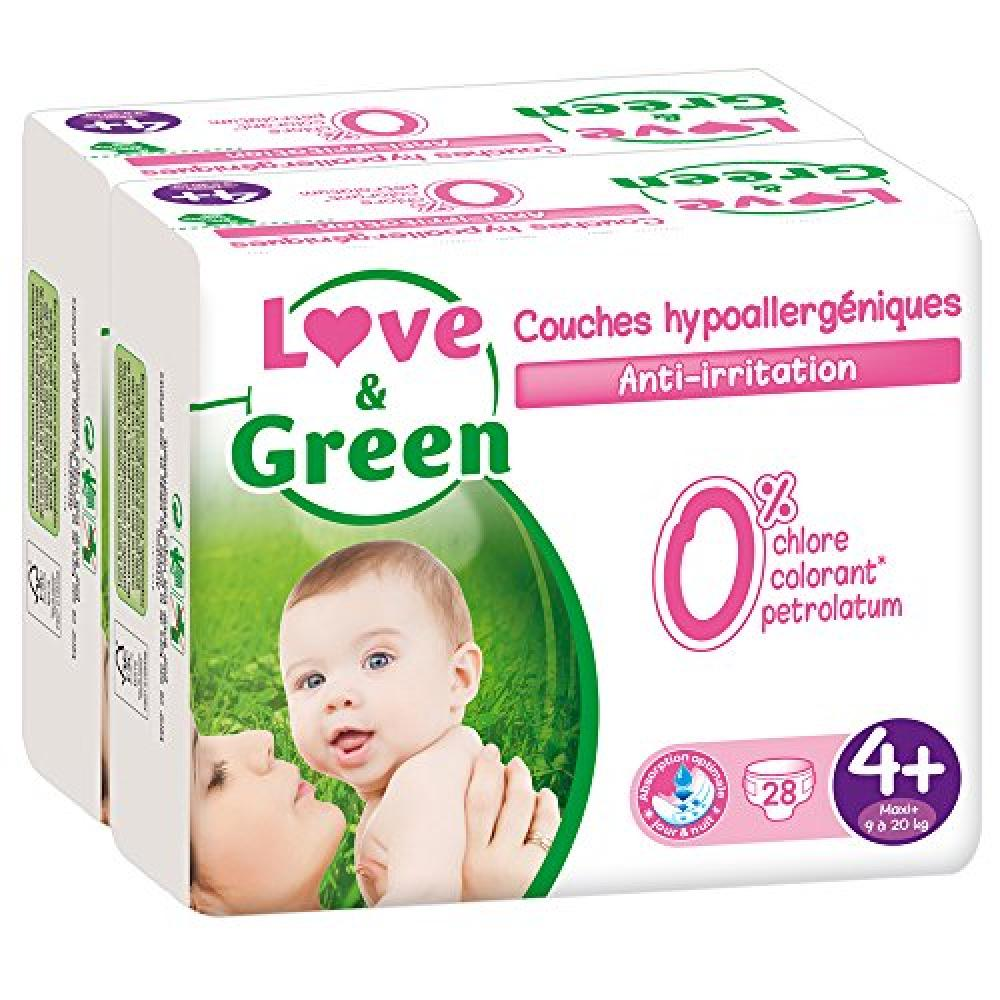 Love and Green Ecological Nappies Size 4Plus 28 Pack
