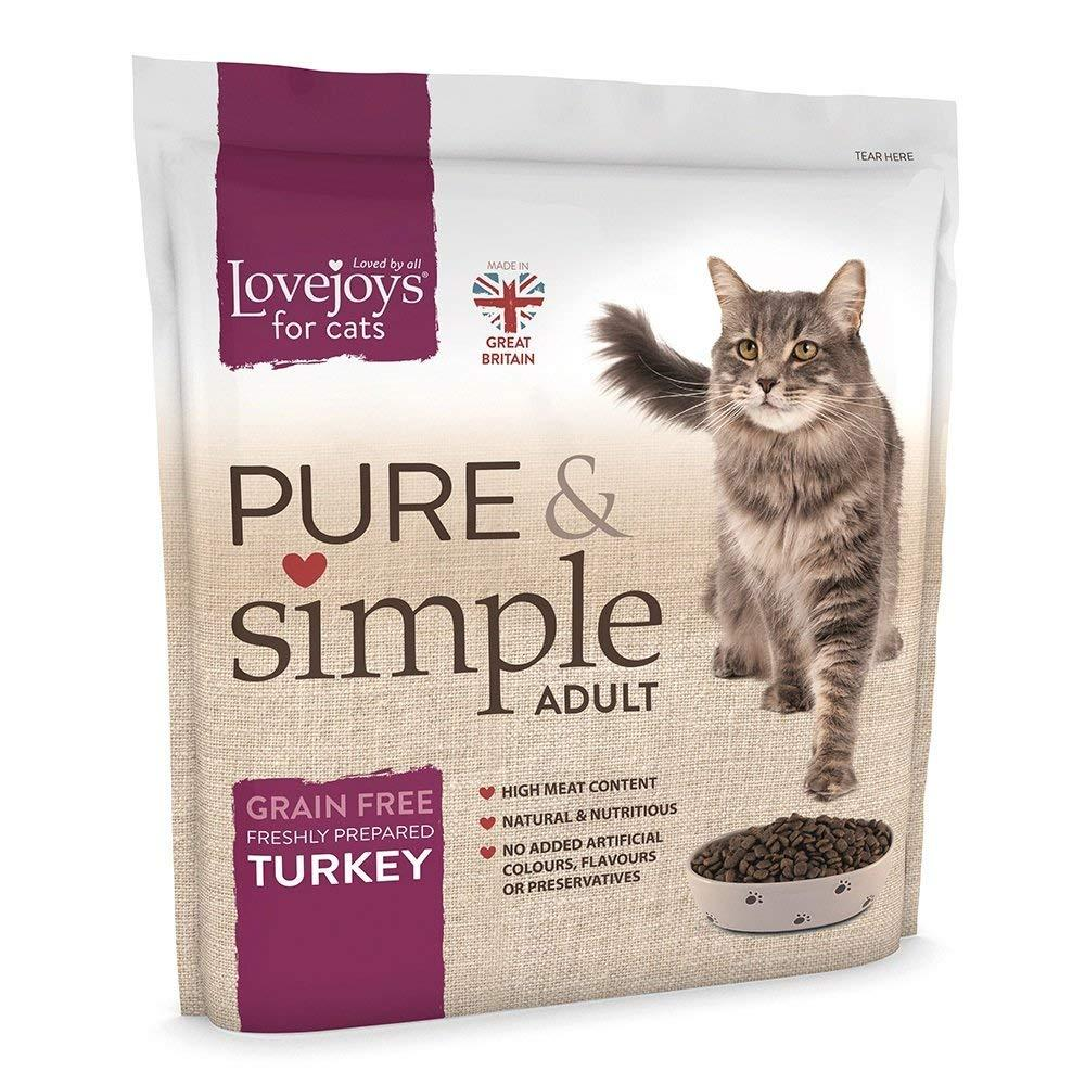 Lovejoys Pure and Simple Adult Cat Grain Free Turkey 1500g
