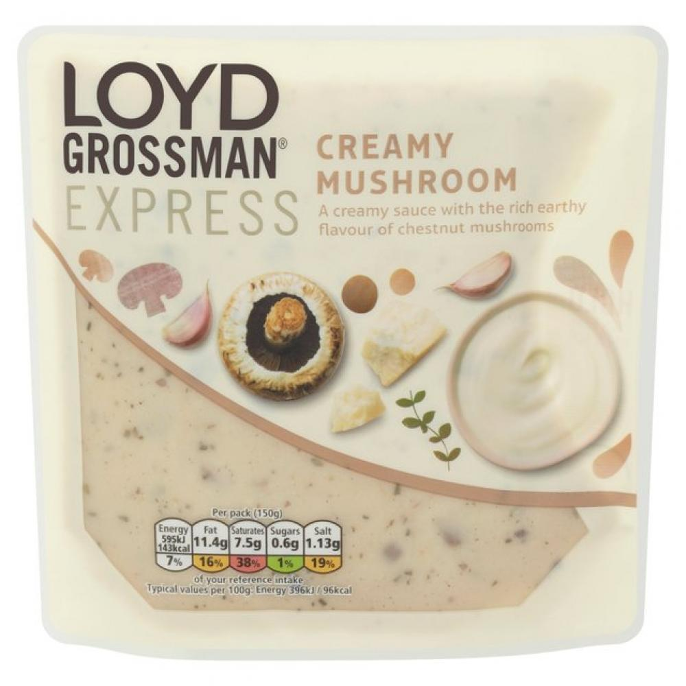 Loyd Grossman Express Creamy Mushroom Sauce 150g
