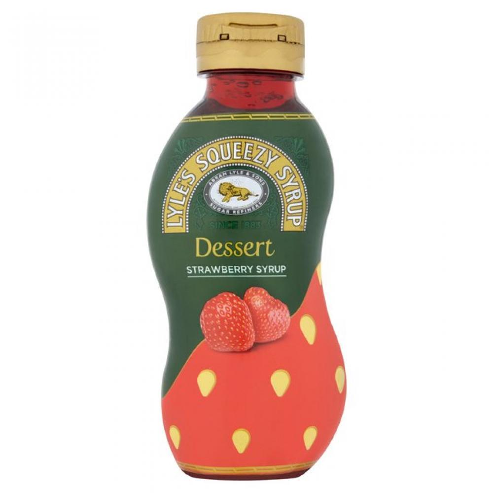 Lyles Squeezy Strawberry Syrup 750g
