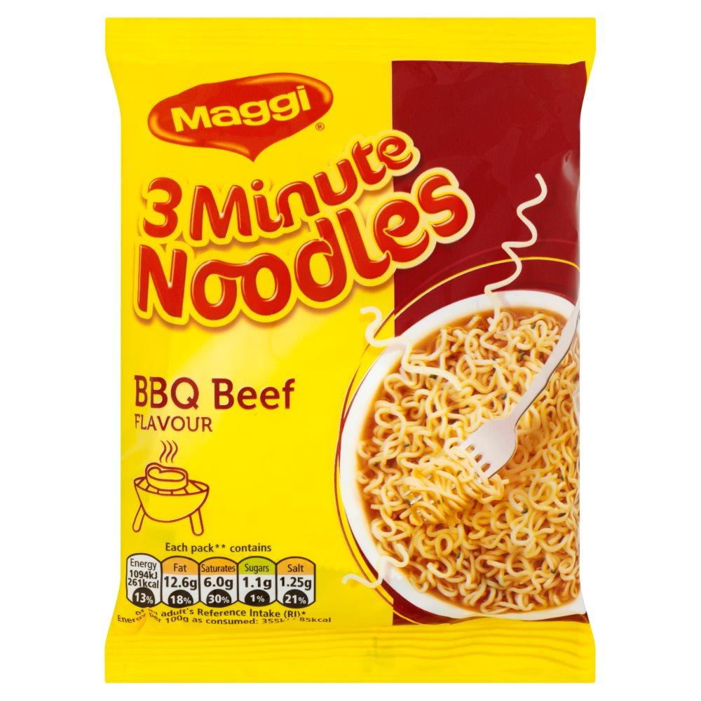 Maggi 3 Minute Noodles BBQ Beef Flavour 59g