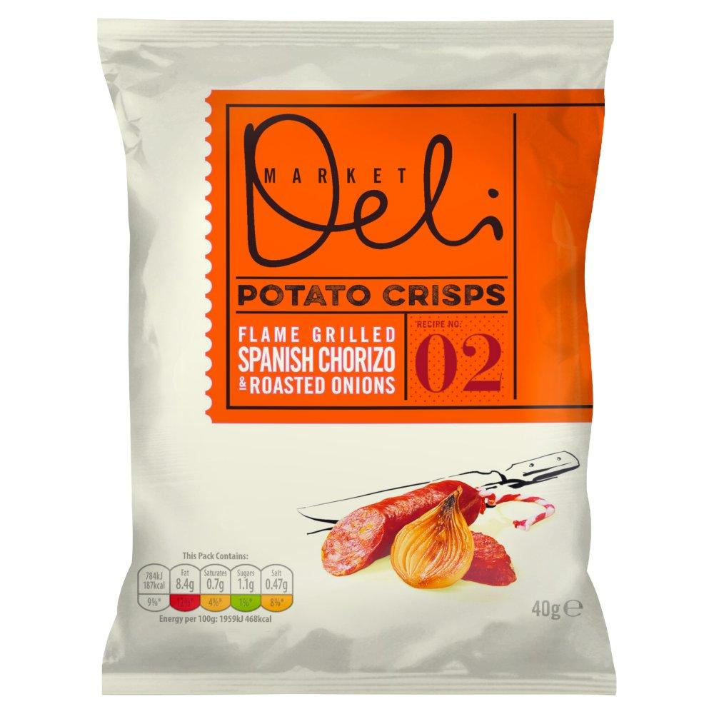 Market Deli Flame Grilled Spanish Chorizo with Roasted Onions 40g