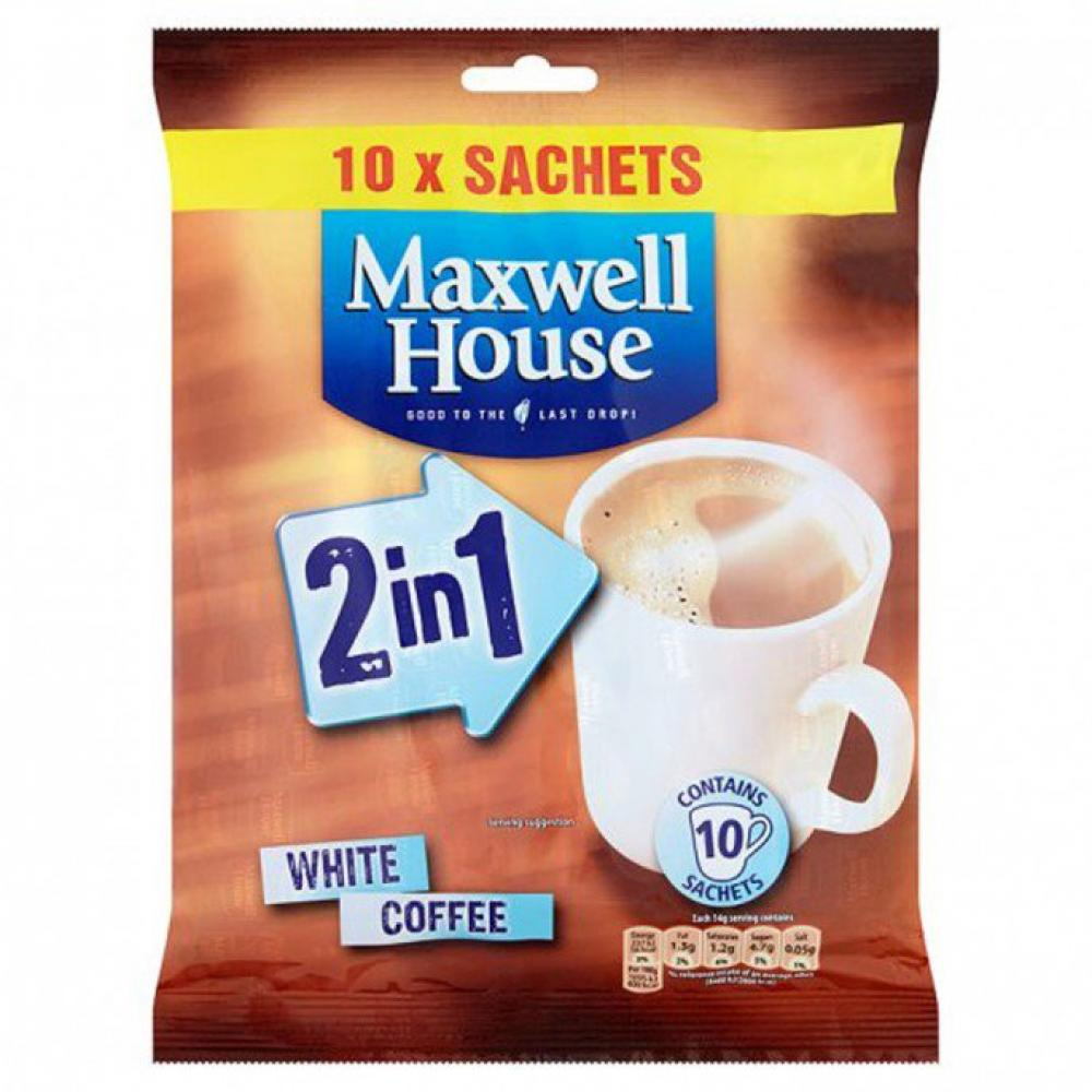 Maxwell House 2 in 1 Coffee White Coffee 10 sachets
