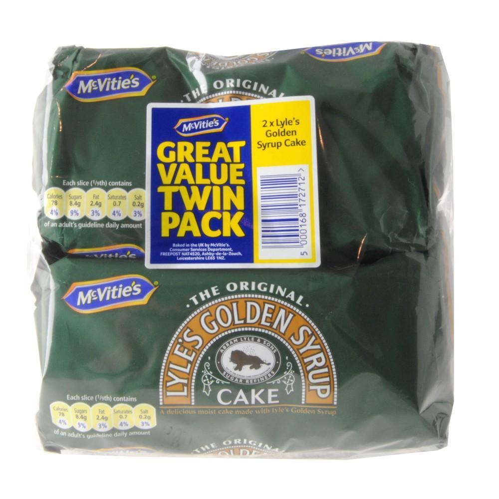 McVities Lyles Golden Syrup Cake Twin Pack