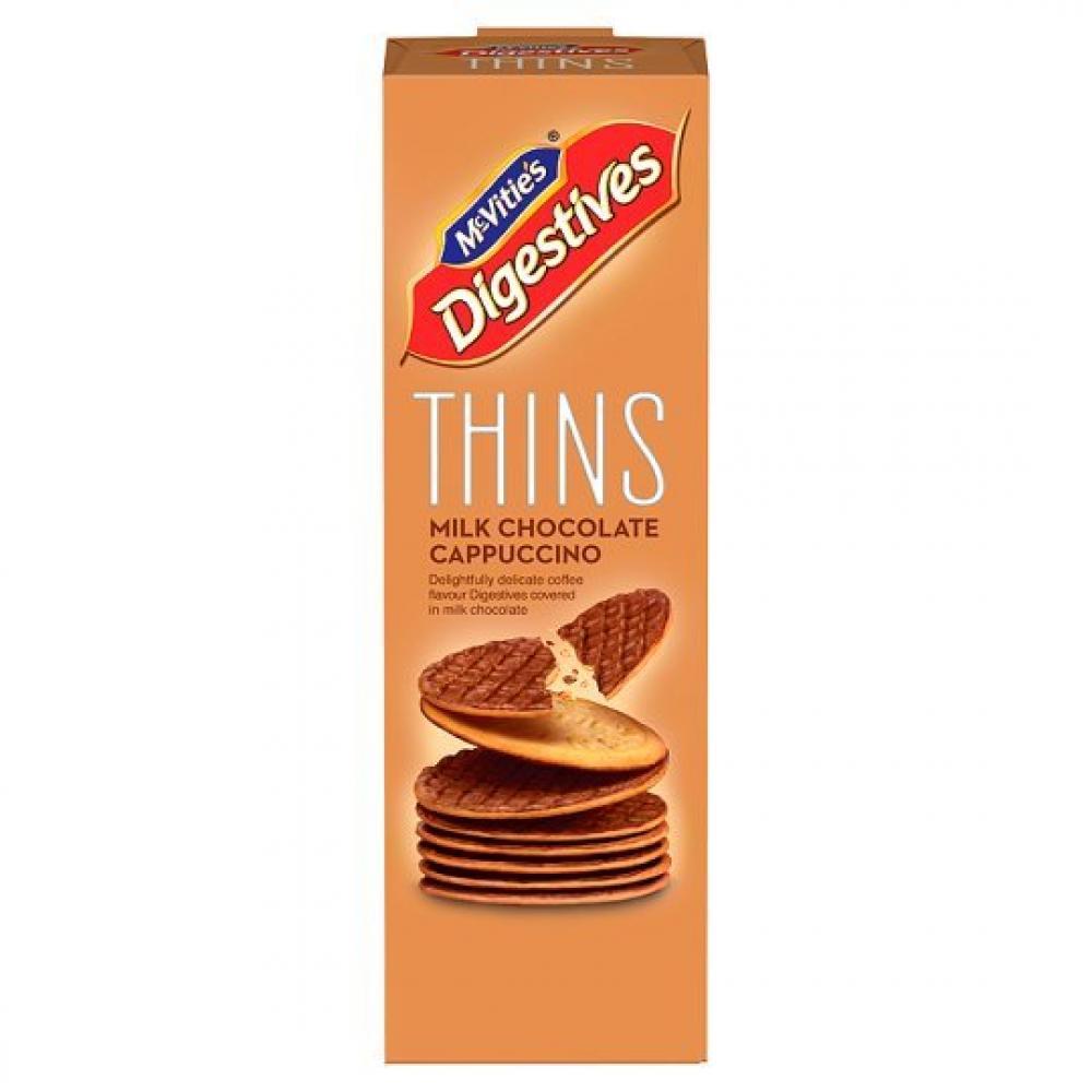 McVities Milk Chocolate Cappuccino Thin Biscuits 180g