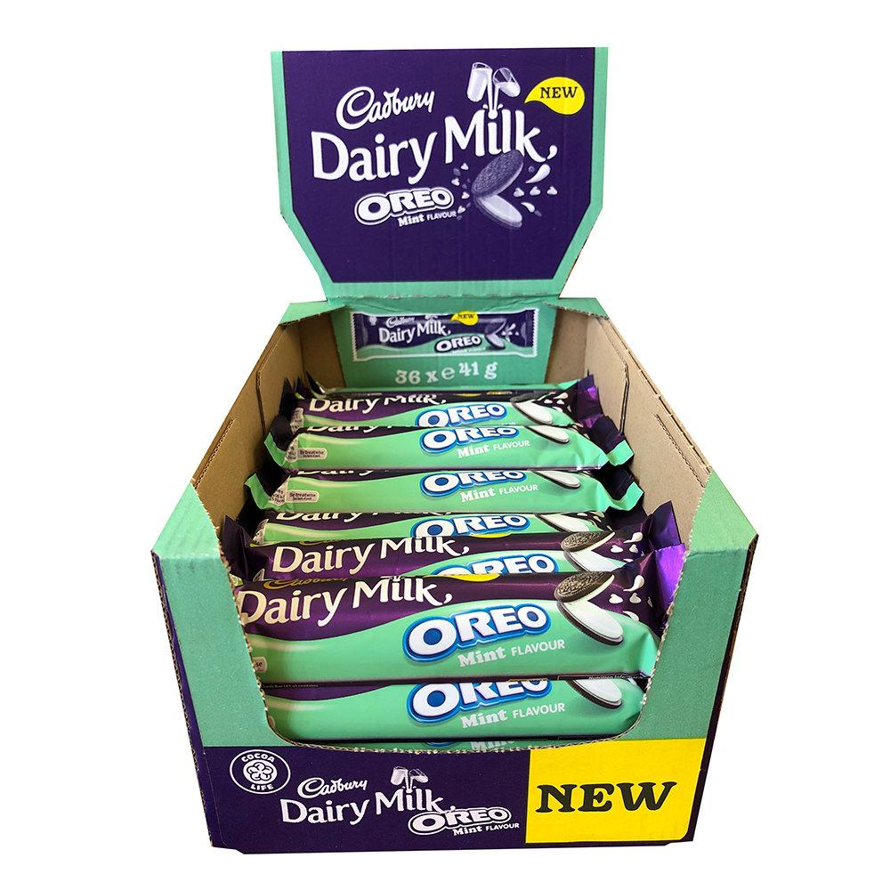 CASE PRICE  Cadbury Dairy Milk Oreo Mint 36 x 41g