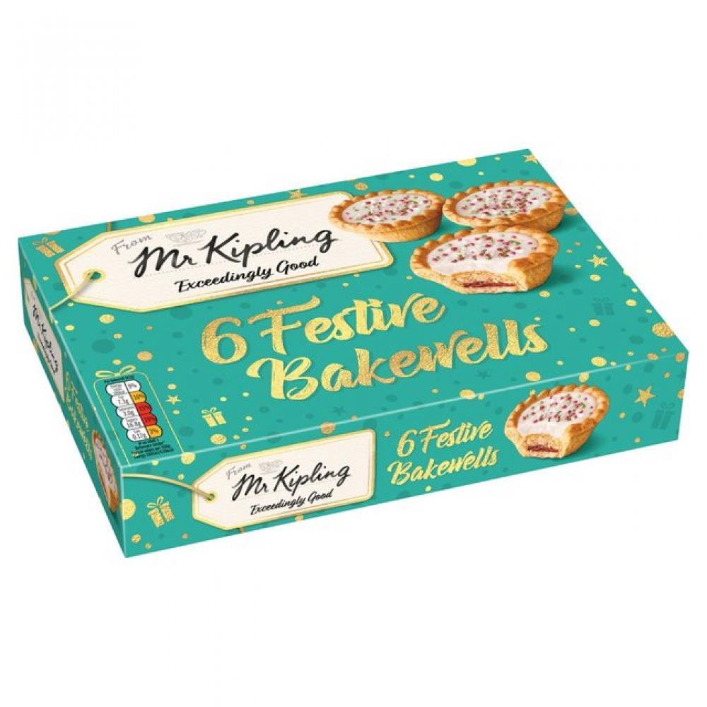 Mr Kipling 6 Festive Bakewells