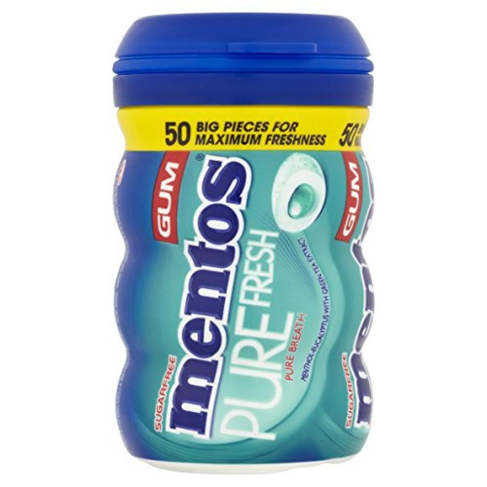 Mentos Gum Pure FreshMenthol Eucalyptus 100 g