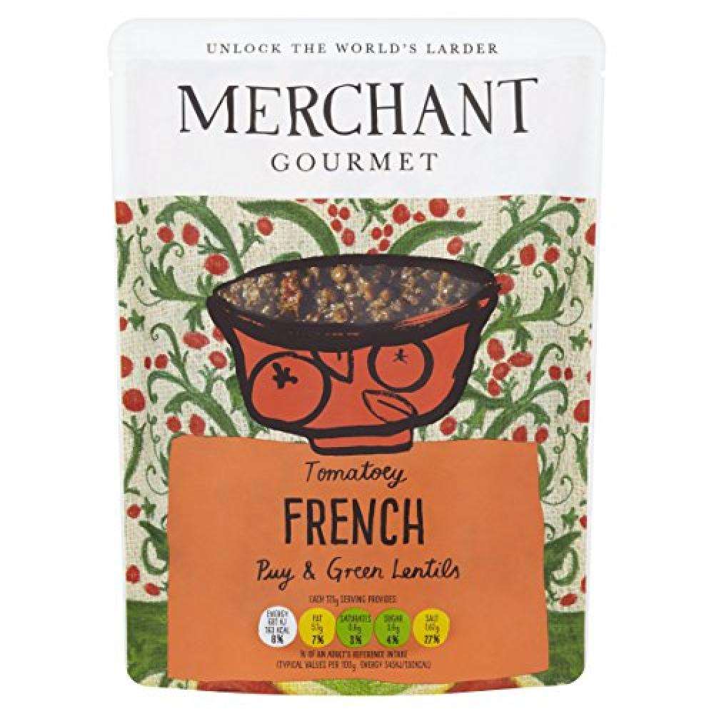 Merchant Gourmet Tomatoey French Puy and Green Lentils 250 g