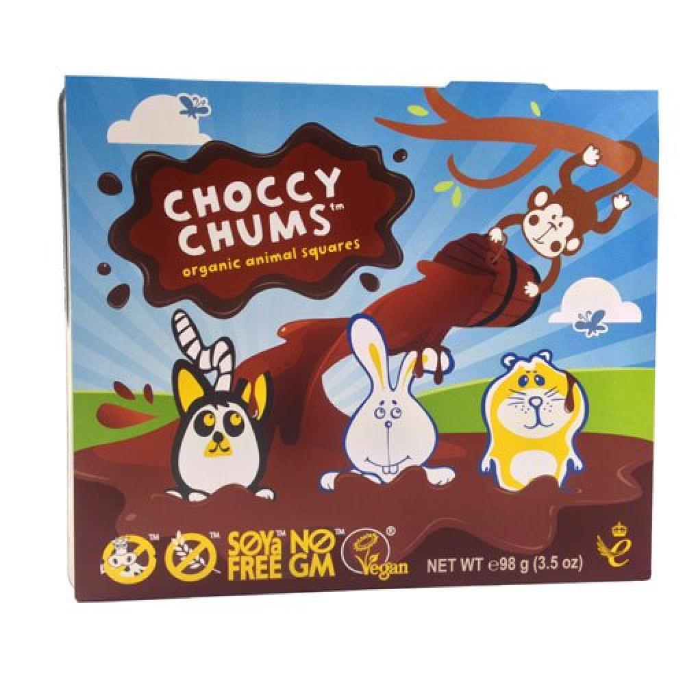Moo Free Choccy Chums Organic Animal Squares 98g