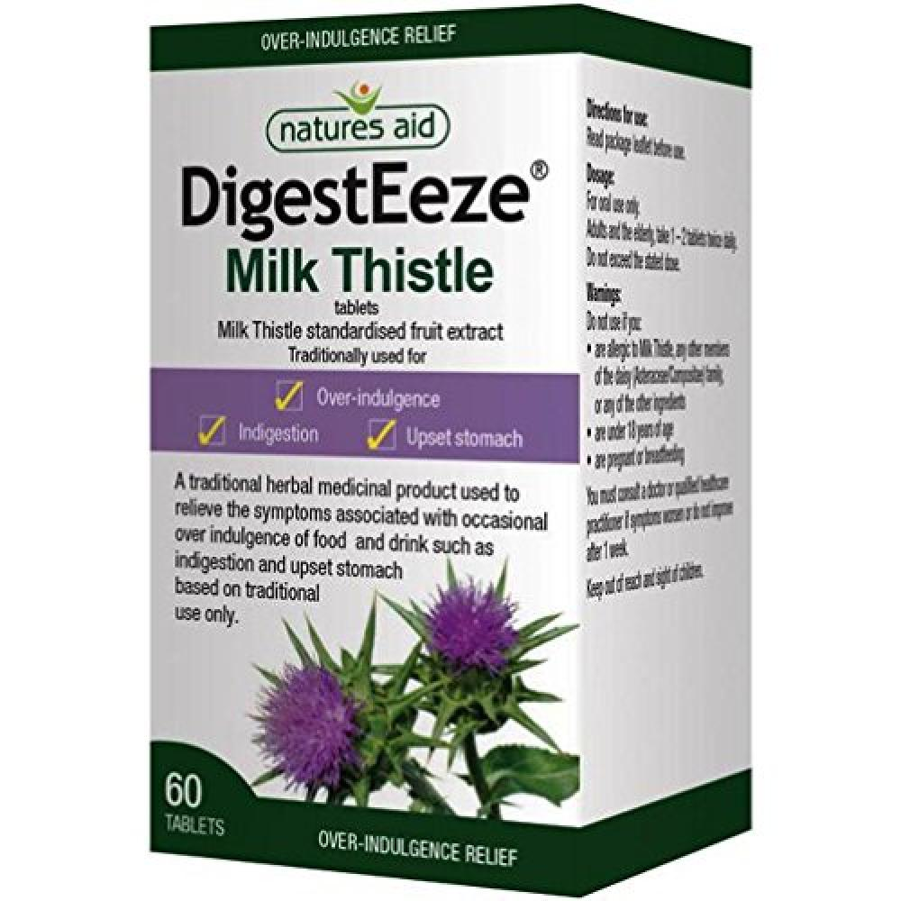 Natures Aid DigestEeze Milk Thistle 60 Tablets