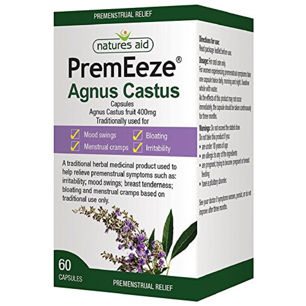 Natures Aid PremEeze Agnus Castus 400mg 60 Caps
