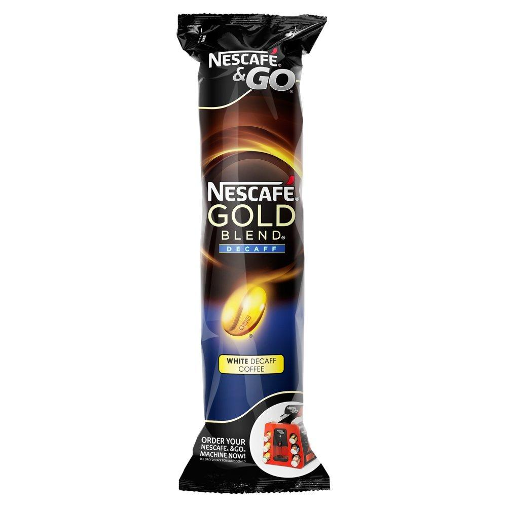 Nescafe and Go Gold Blend White Decaff 8 Cups