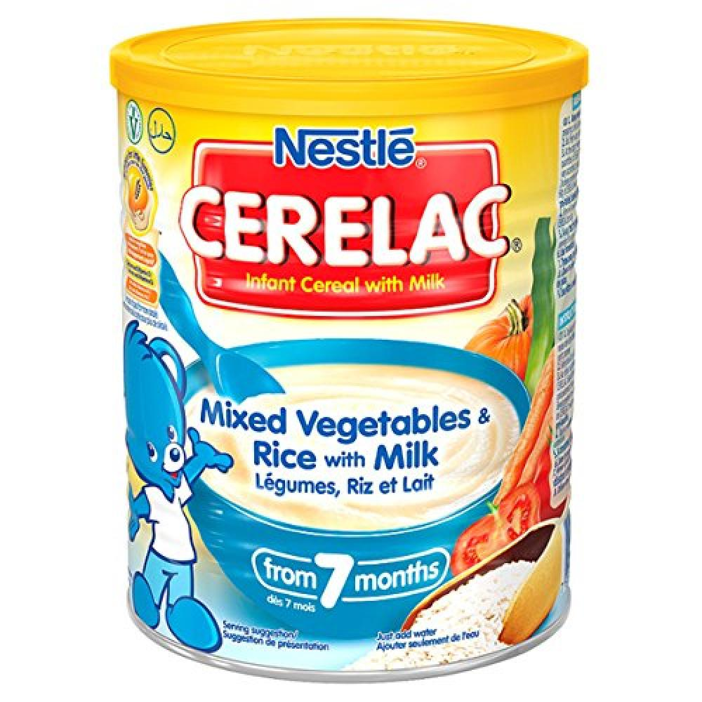 Nestle CERELAC Mixed Vegetables and Rice with Milk Infant Cereal7 months 400g