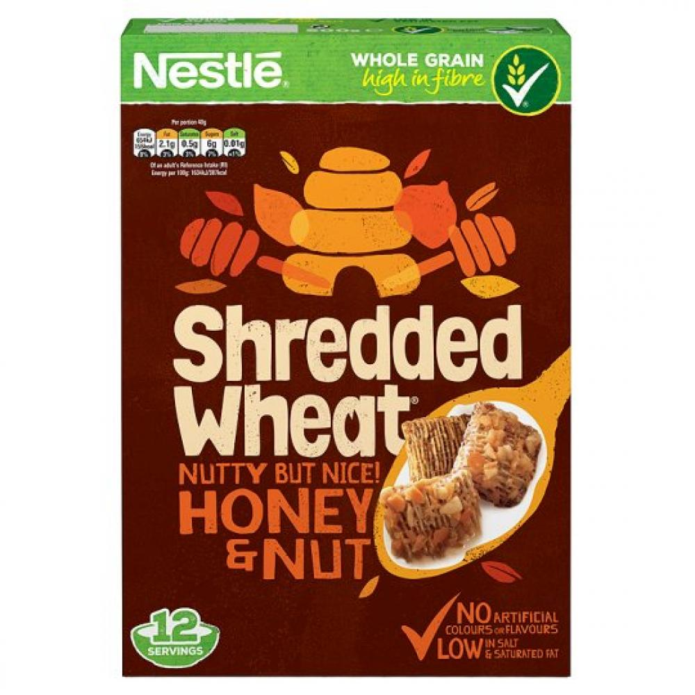 Nestle Shredded Wheat Honey Nut 500g
