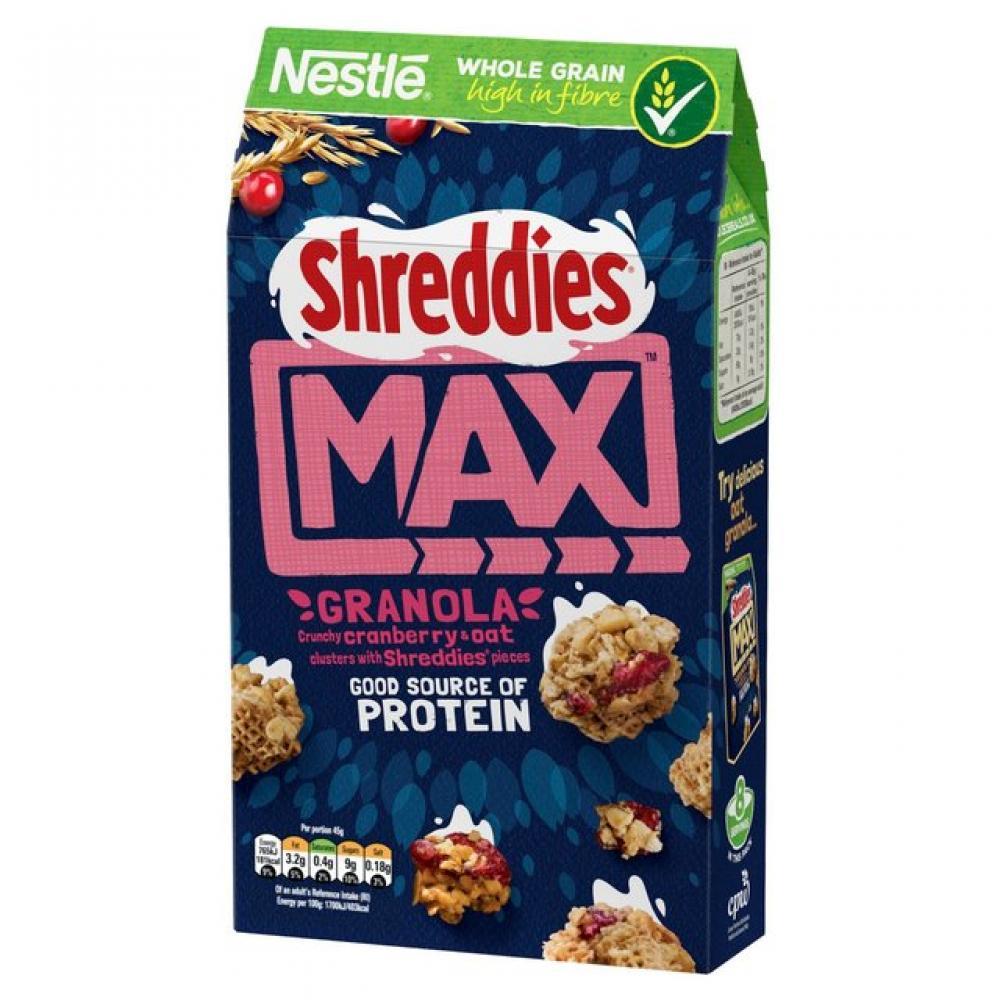 Nestle Shreddies Max Crunchy Oat and Cranberry Granola 400g