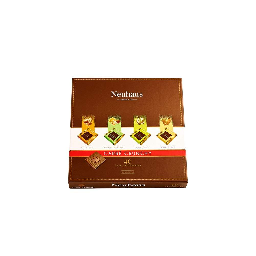 Neuhaus Carre Crunchy 40 Milk Chocolates 200g