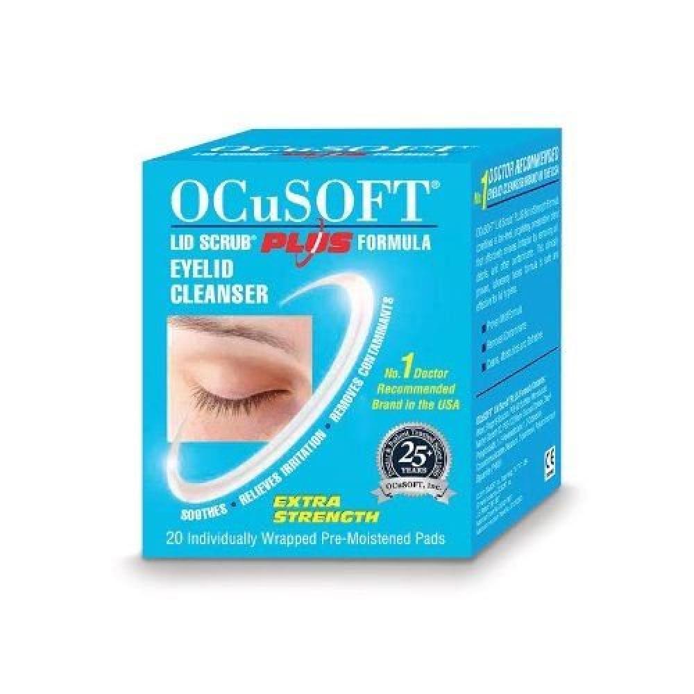 Ocusoft Lid Scrub Plus 20 Individually Wrapped Pre- Moistened Pads
