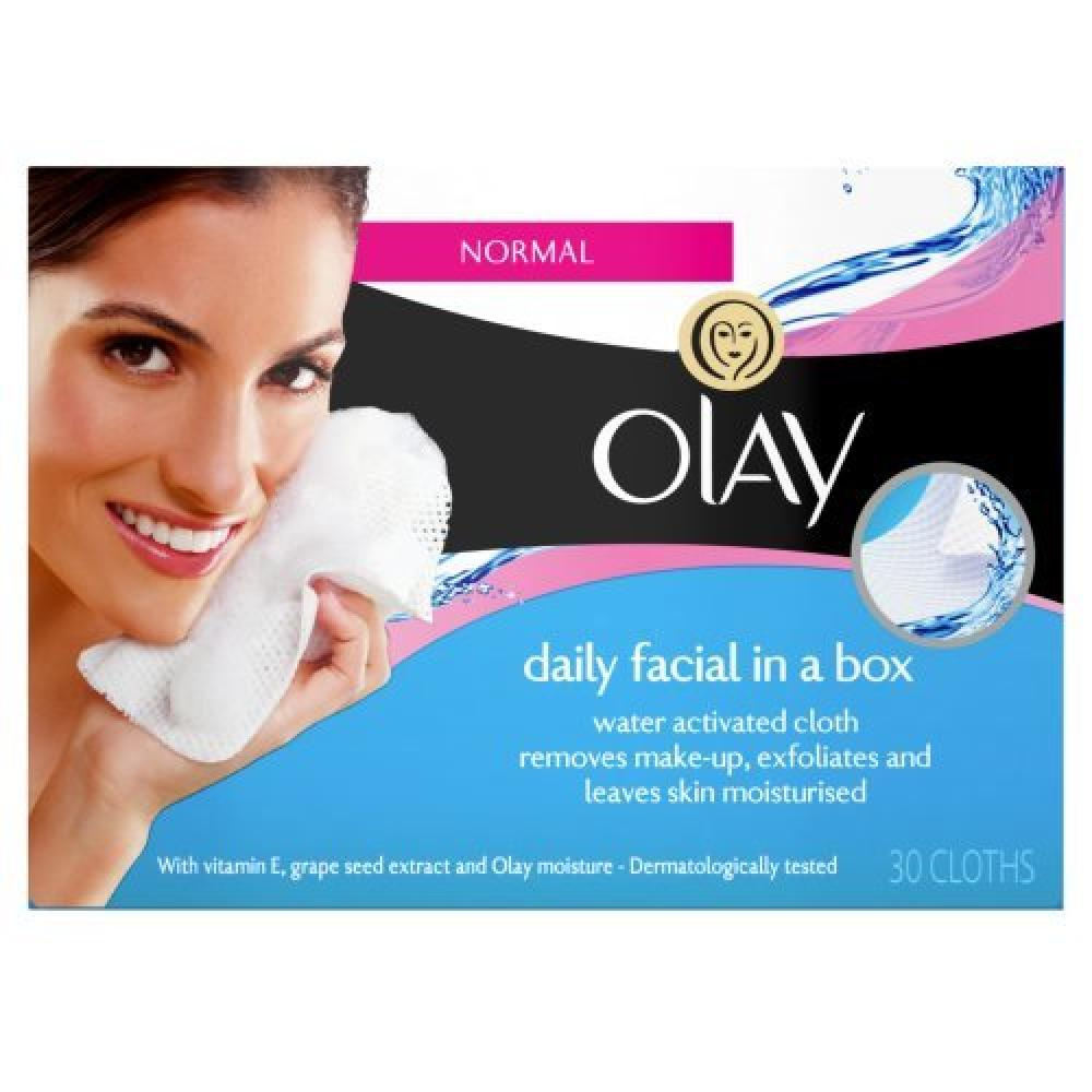 Olay Daily Facial in a Box Water Activated Cleansing Cloths 30 Wipes
