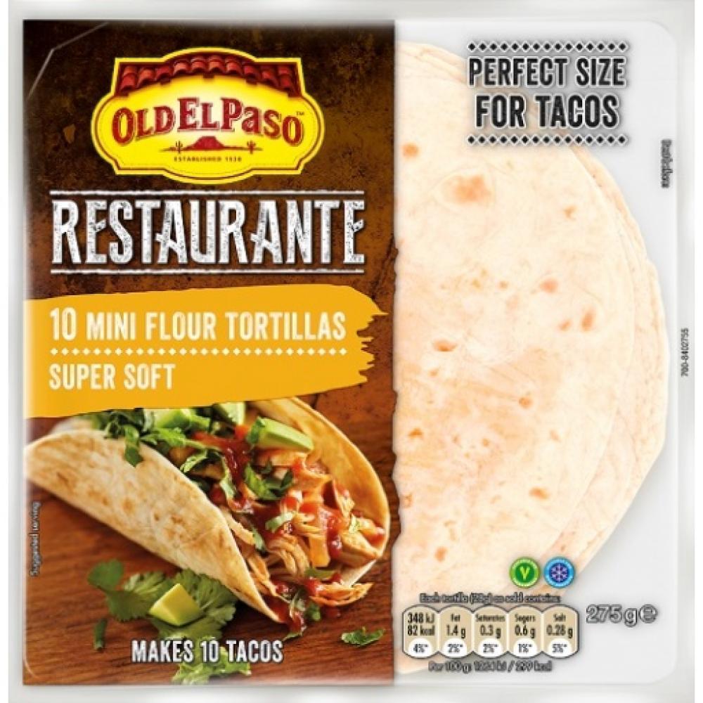 Old El Paso Restaurante 10 Mini Flour Tortillas