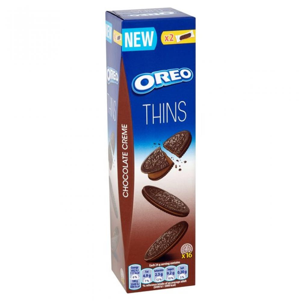 Oreo Thins Chocolate Creme 16 biscuits