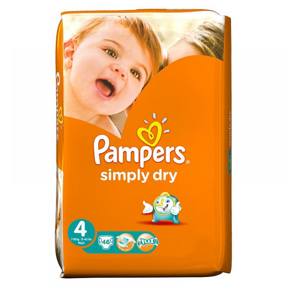 Pampers Simply Dry Size 4 pack of 46